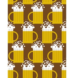 Beer seamless pattern beer mug background mug with vector