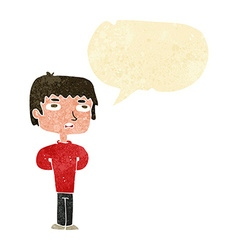Cartoon unhappy man with speech bubble vector