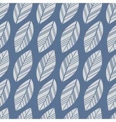 Blue seamless leaves vector
