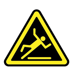Slippery yellow sign vector