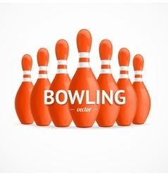 Group of red bowling pins vector