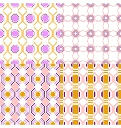 Set of seamless geometric pattern backgrounds for vector