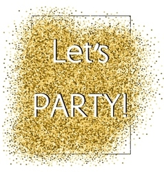 Party glittering card vector image