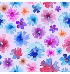 Abstract watercolor flower pattern modern flower vector