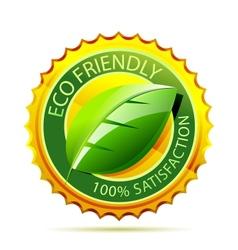 Eco friendly gold icon vector image