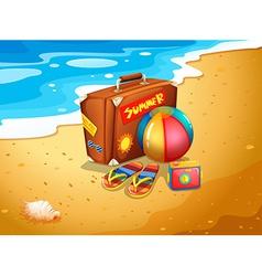 A summer escapade at the beach vector image vector image