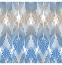 Abstract seamless blue pattern geometric shapes vector image