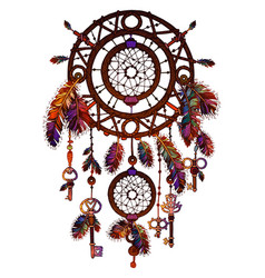 american colored bright dreamcatcher vector image vector image