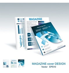 brochure design element vector image vector image