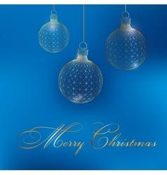 Christmas decoration ball Polygon triangle The vector image vector image