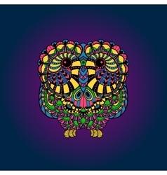 Decorative liner owl vector