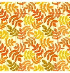 eamless pattern with autumn leaves vector image