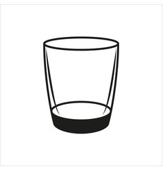 empty glass in simple monochrome style icon vector image vector image