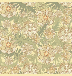 Floral pattern flowers leaves seamless background vector