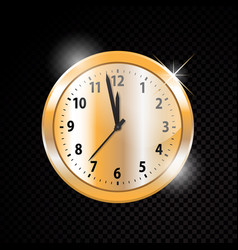 golden clock isolated on transparent vector image