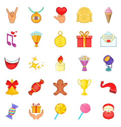 Gratification icons set cartoon style vector