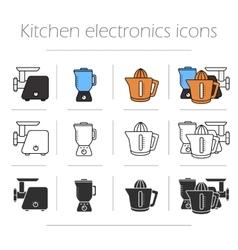 Kitchen electronics icons set vector image