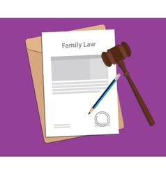 Legal concept of family law vector