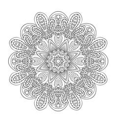 mandala doodle drawing round ornament coloring vector image