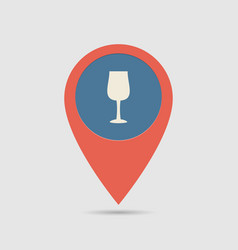 Map pin restoraunt vector