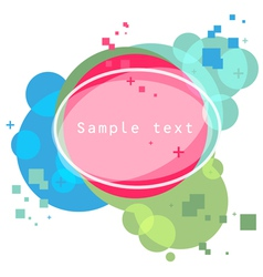 shapes background vector image