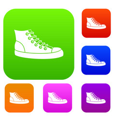 Sneakers set collection vector
