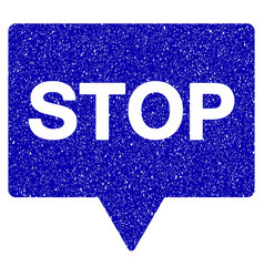 Stop banner icon grunge watermark vector