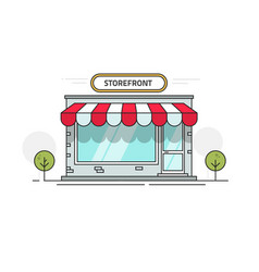store or shop front view vector image vector image