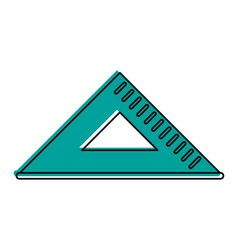 Triangle ruler icon image vector