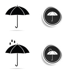 umbrella black with rain vector image