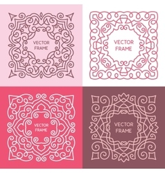 Vintage floral frame collection vector image