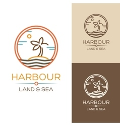 Harbour land and sea vector