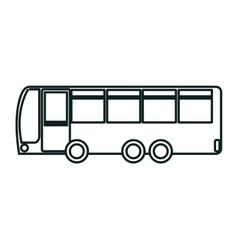 Bus icon over white background isolated design vector