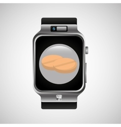 Smart watch pharmacy health technology vector