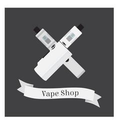 Set of vape shop with e-cigarettes vapor liquid vector