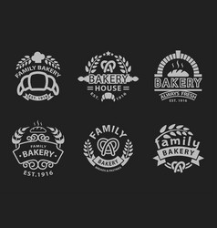 Bakery badge icon fashion modern style black white vector