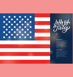 Usa independence day greeting card vector