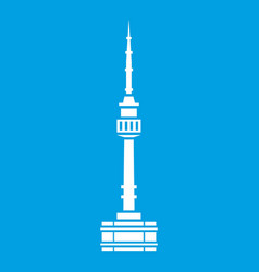 Namsan tower in seoul icon white vector