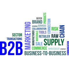 Word cloud b2b vector