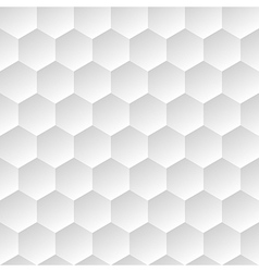 white geometric background with hexagons vector image