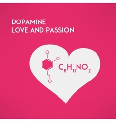 Love chemistry passion concept dopamine vector