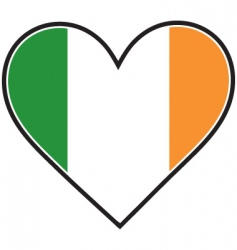 Irish heart flag vector image