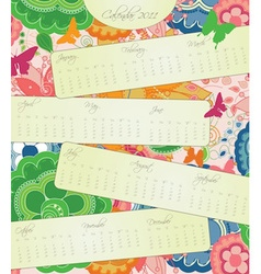 Sweet Blossom Calendar for 2011 vector image
