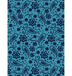 Paisley henna flowers in pattern vector