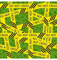 Do not cross tape seamless pattern vector