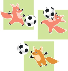 Fox goalkeeper vector