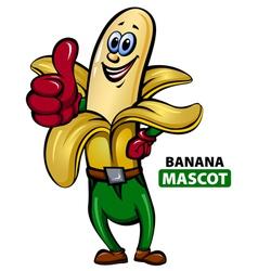 Banana mascot vector