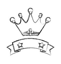 crown emblem symbol vector image