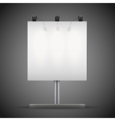 Empty square mockup billboard with spotlights and vector image vector image