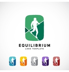 Equilibrist or a Tightrope Walker Abstract vector image vector image